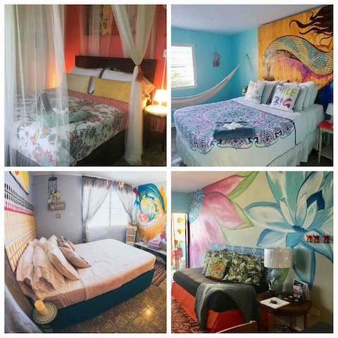We have 3 other rooms and private apartments available, please click on our profile to look at all your choices!