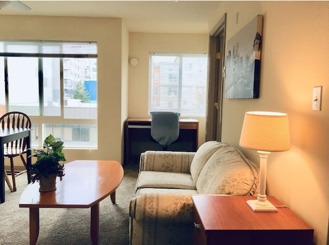 Cozy unit at heart of downtown/parking 市区中心带车位公寓。