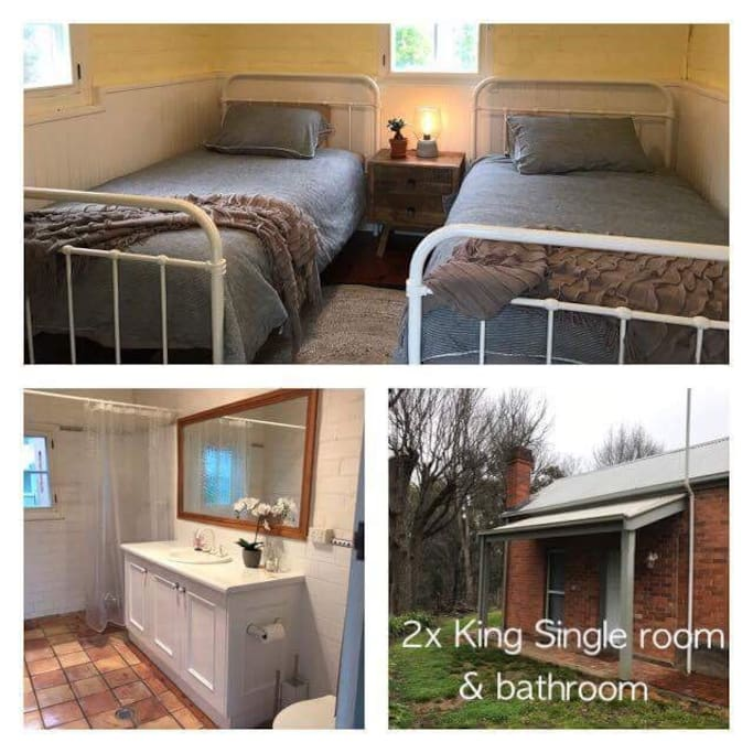 2x king Single & Bathroom