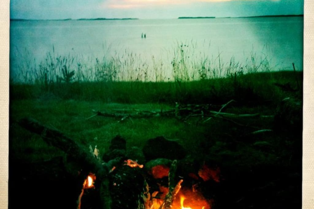 Tracadie BayFront yard overlooking the bay. Has a fire pit!