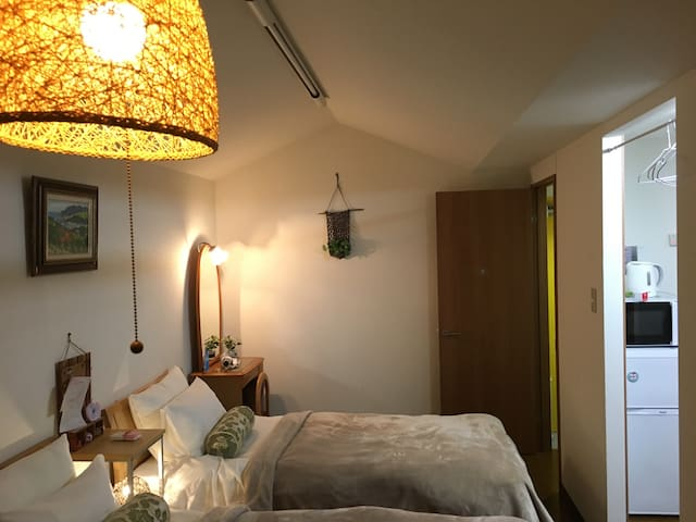 Cozy & clean/6min fr SUB sta/airport direct bus円山