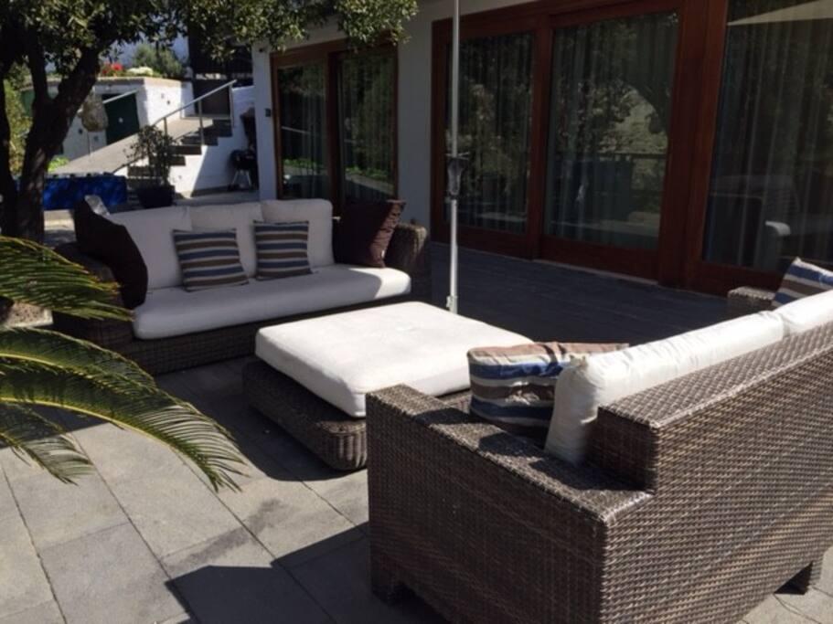 soggiorno esterno outside patio