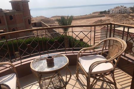 Spacious, great sea view Montaza  appartment