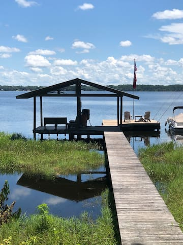 We're Open FISHING, SUN, FUN at Lakefront Paradise