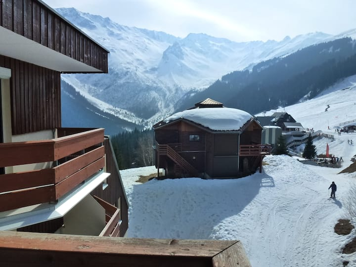 Appartment 8p at the foot of the slopes Les7Laux