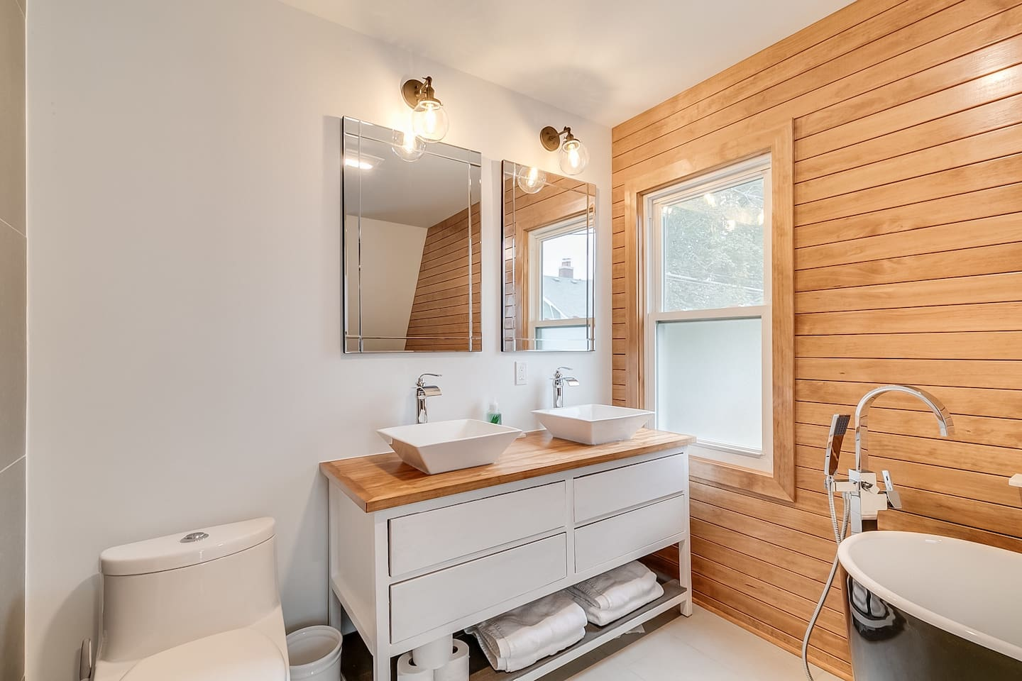Simple, clean, and modern with a little spa on the side. (Located on the second floor.)