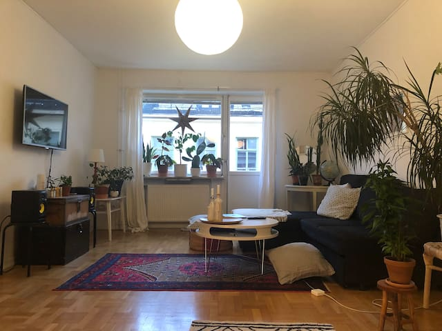 Big apt with balcony in the heart of Södermalm