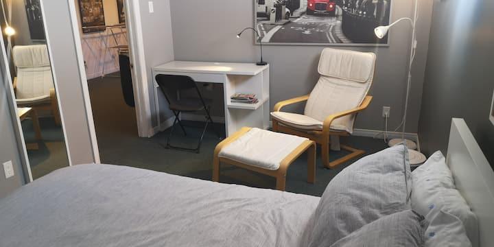 chambre lit blanc