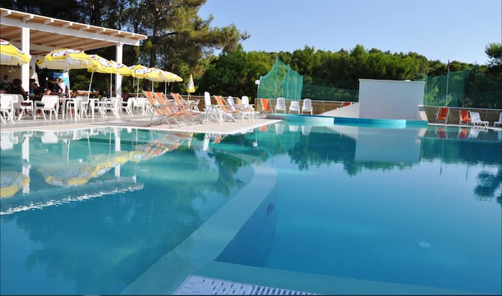 Studio in Vieste, with shared pool - 2 km from the beach