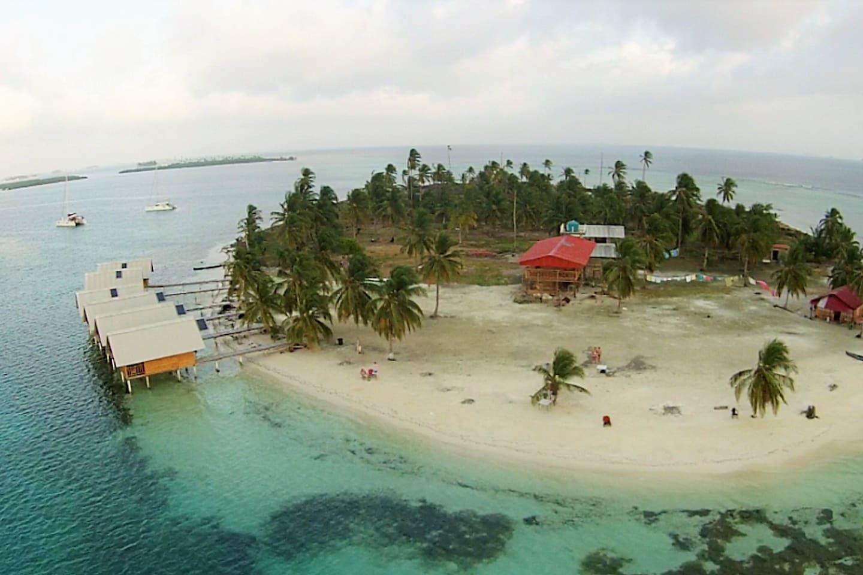 Isla Wailidup., located in San Blas - Panama. Private cabins