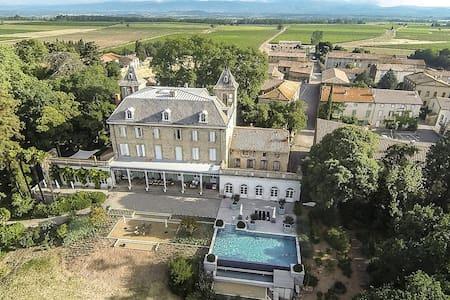 Kamer in Chateau de Blomac; Zuid Frankrijk - Blomac - ที่พักพร้อมอาหารเช้า