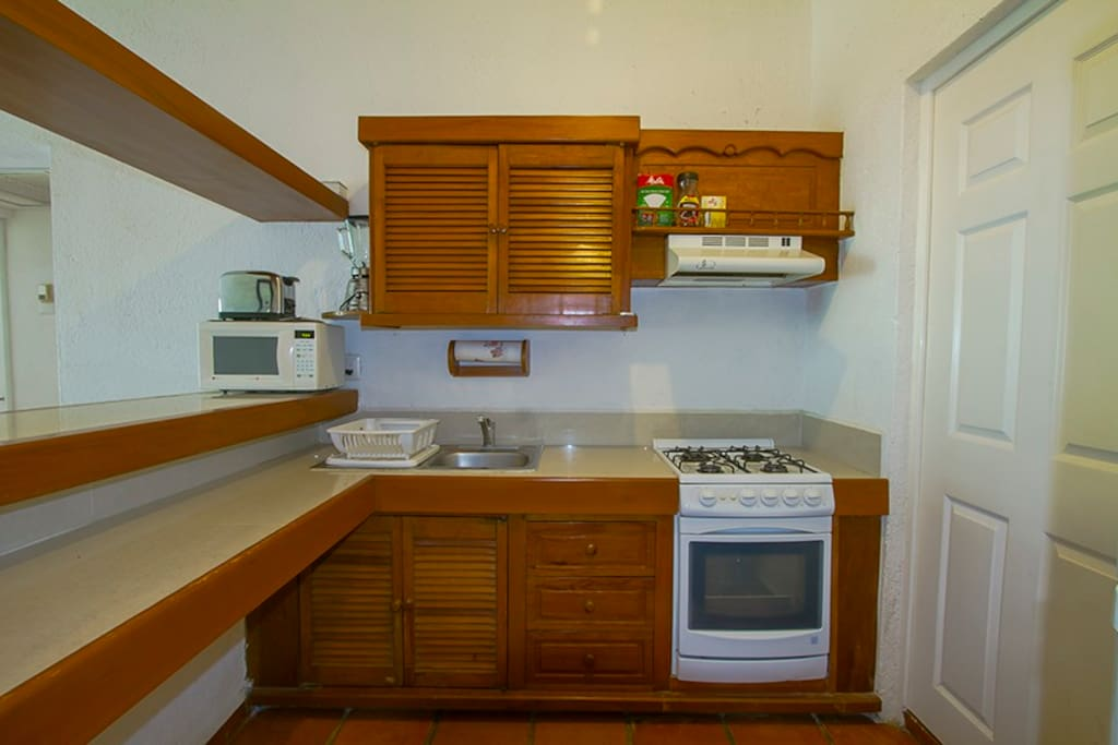 Kitchen fully furniture with a bar