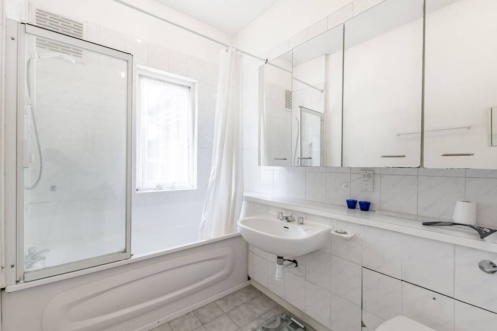 Clean bright bathroom