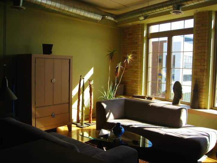 Sunny south facing loft in downtown Saskatoon