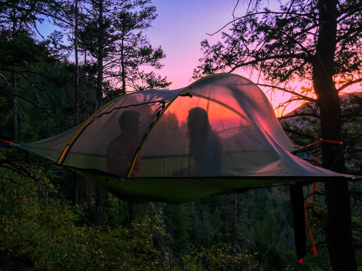 Sunsets become even more amazing from the elevated perspective of the Tentsile Stingray. & Tentsile hammock tent - Tents for Rent in North Logan Utah ...