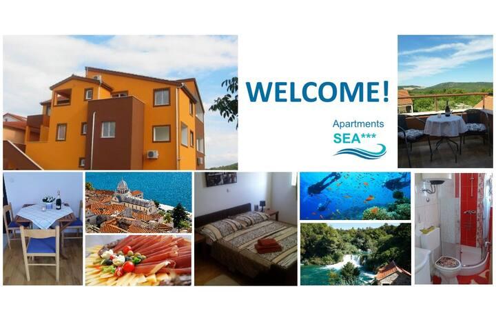 Apartment Sea*** - Dalmatino - Bilice - Byt