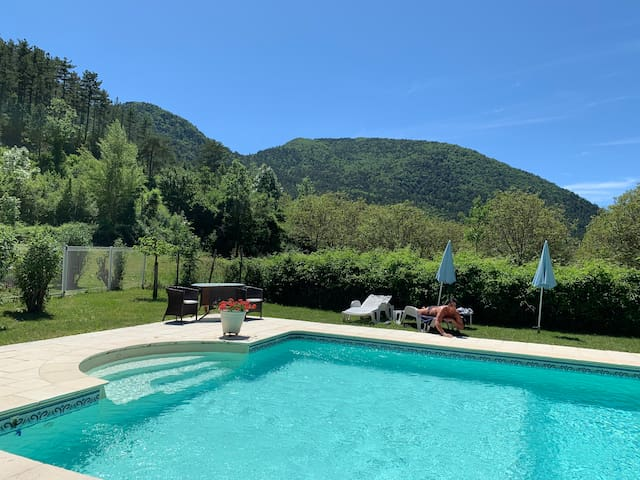 The pool at La Pique on 1,2 km from Les Capucines
