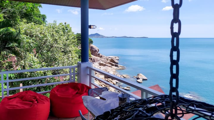 Samui Dragon House Panoramic ocean view cliffside