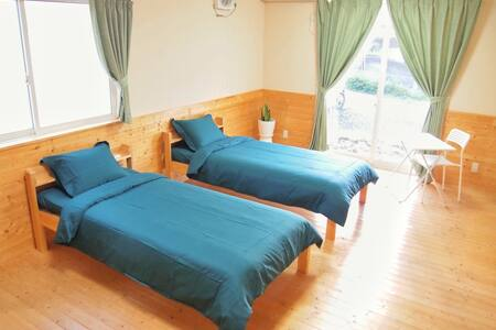 Twin room Guesthouse 仙台駅まで車で15分★無料駐車場(要予約)