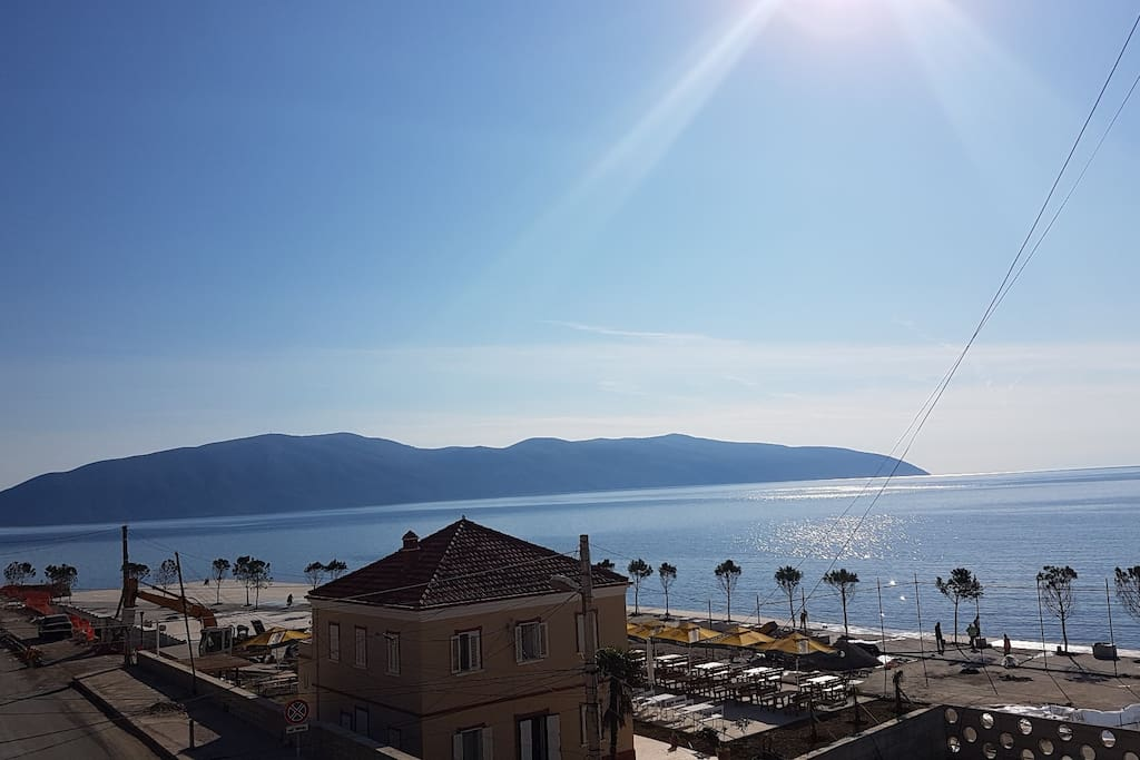 Uninterrupted sea view from the apartment balcony!