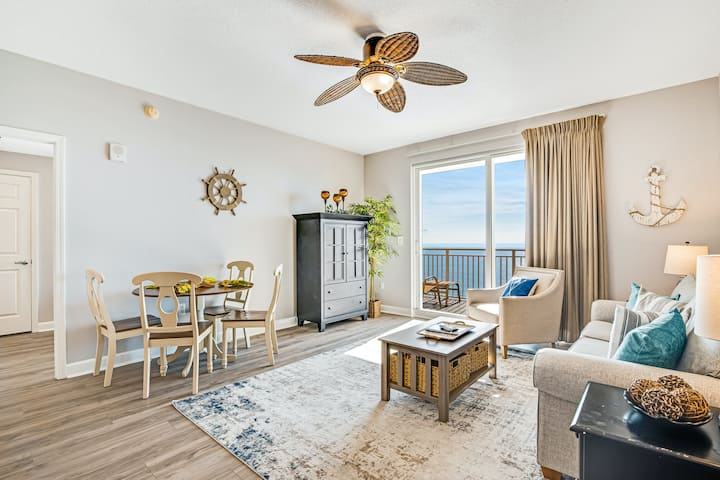 16th-Floor, Beachfront Condo w/Free WiFi, Central AC, Shared Pool, and Pool View