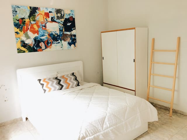 2nd Bedroom ~ Queen Bed (160x200) , Air Conditioning , Wardrobe , Ladder rack