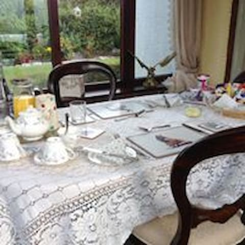 Granny's conservatory ...breakfast is served