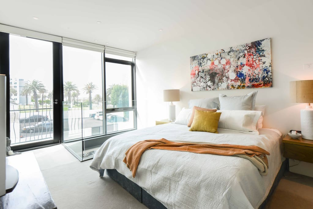 Large open light and airy master bedroom
