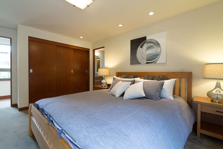 Guest Suite 1: Full Size Closets with Private Bath