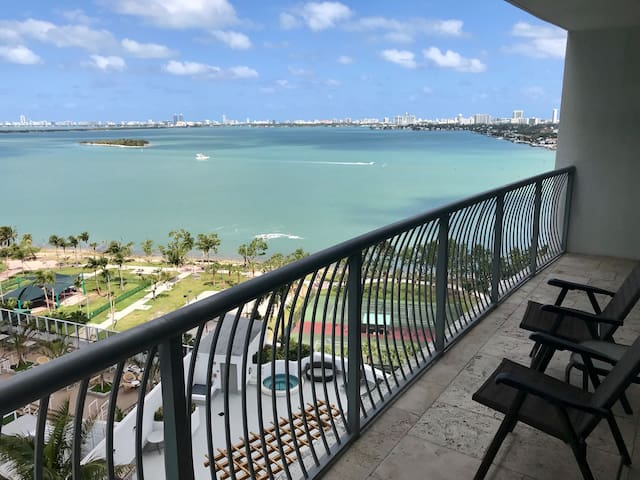 ^Mid-Century Miami, 17th floor Jacuzzi & Bay Views