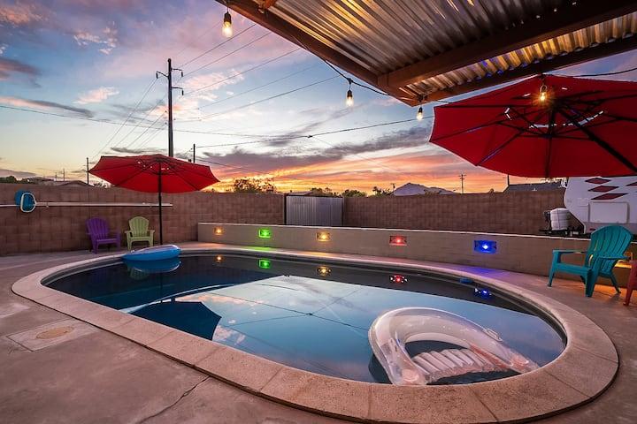 OldTown Scottsdale Mid Century Beauty, Heated Pool