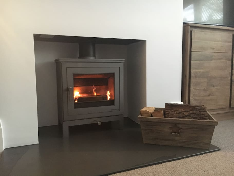 The log burner is lovely during the winter months. It's easy to use & there are logs at the house for guests to use.