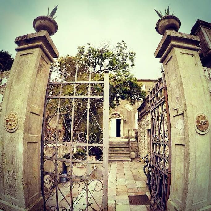 * entrance to the house *