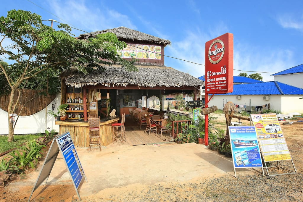 This is how our place look, front picture, western restaurant but the house still in Khmer style.