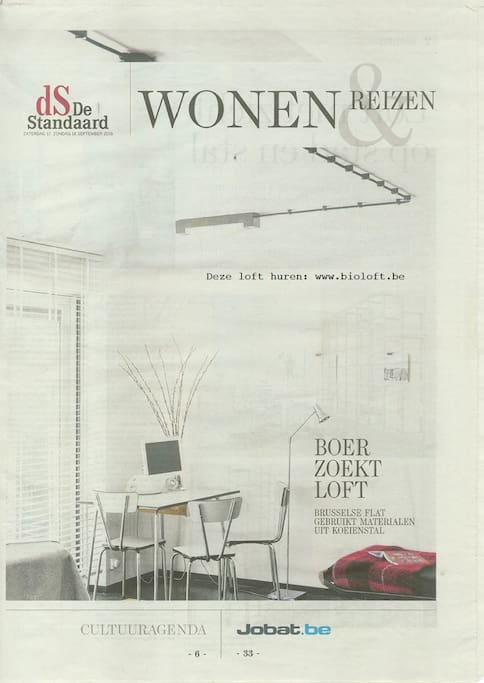 BioLoft In the national journal 'De Standaard' page 1