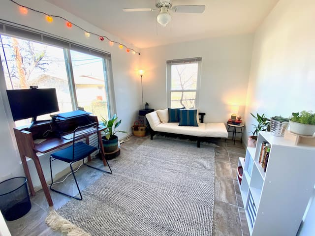Office with Studio Day Sofa for additional twin bed