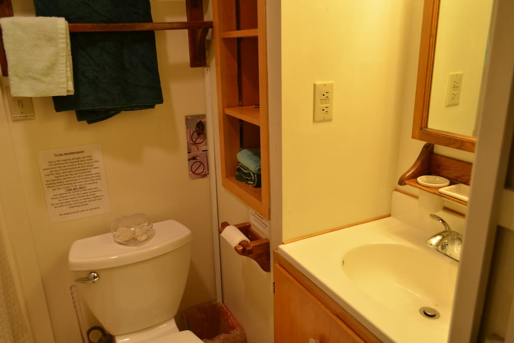 Bathroom with shower stall to the left of photo not seen
