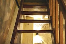 staircase leading up to the loft