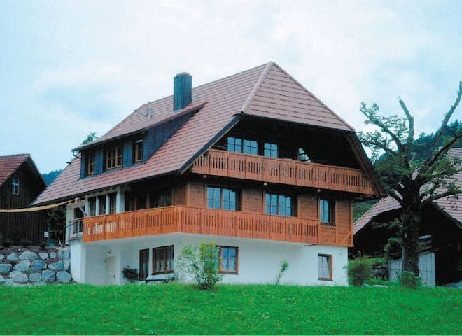 Oberrainbauernhof, (Gutach (Schwarzwaldbahn)), Ferienwohnung, 50qm, 1 Schlafzimmer, 1 Wohn-/Schlafraum, max. 3 Personen