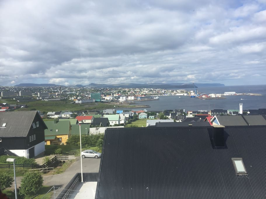 View from kitchen/livingroom of Tórshavn