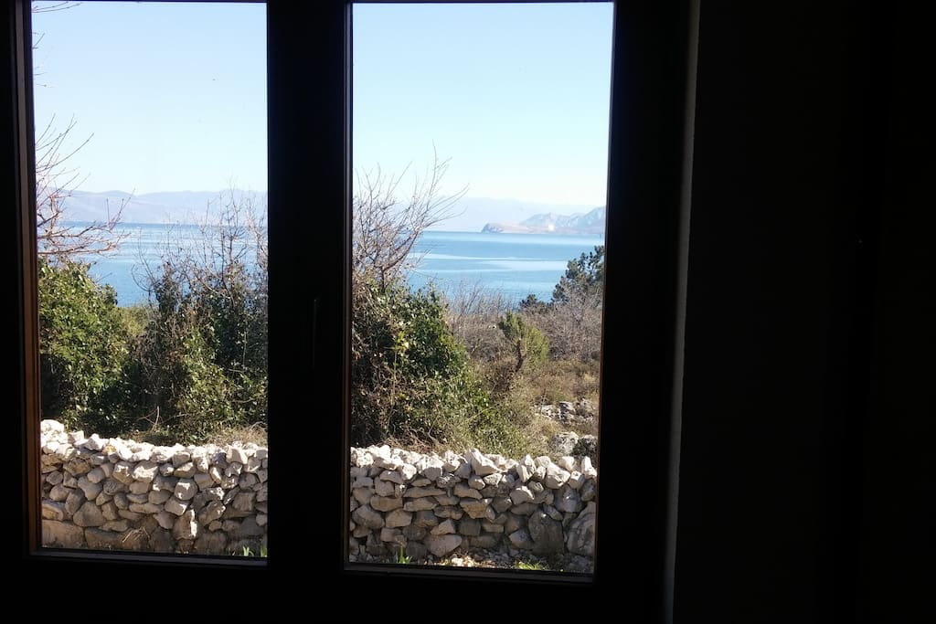 Nice view from the windows to the see.