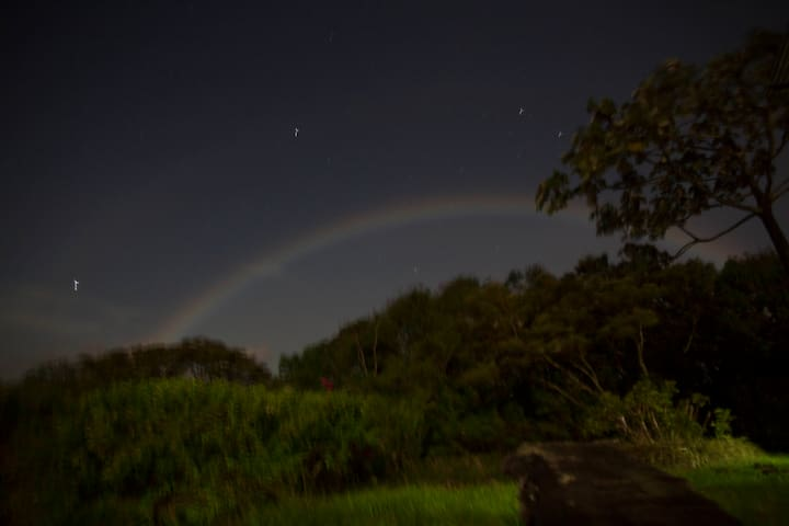 Moon rainbow viewed on property many times