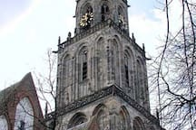 """The Martini Tower (in dutch Martinitoren) is the highest building in Groningen. You find it in the center of Groningen just at the """"Grote Markt"""". You can climb till the top (with lift or stairs) and see the city from above ;) very beautiful!"""