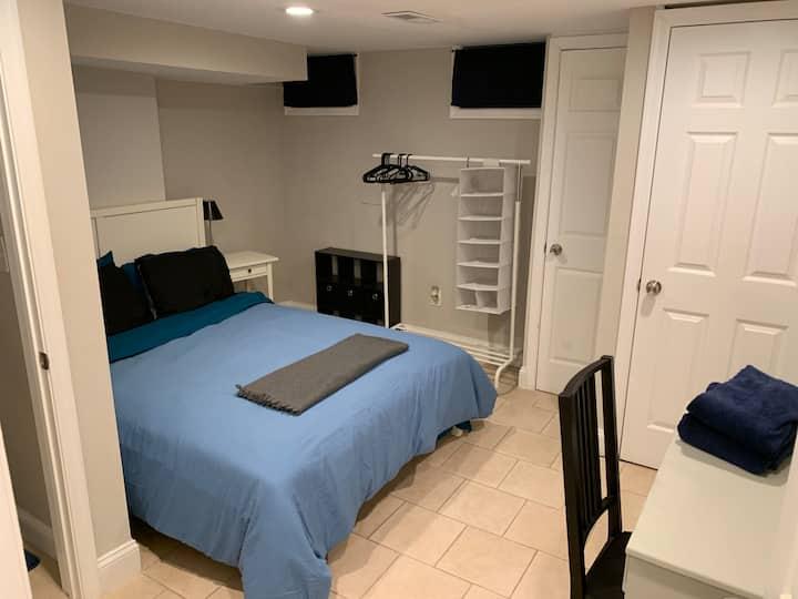 1 bedroom with ensuite bathroom