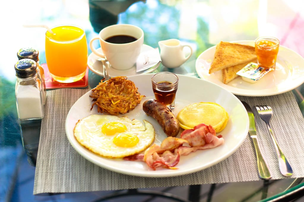 Yep, you can get breakfast when you stay with us, a small extra charge