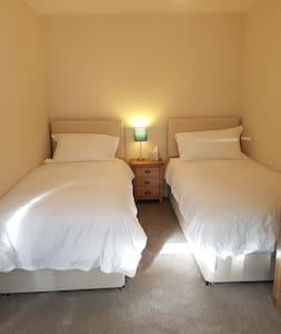 Twin room shared bathroom near Snowdonia