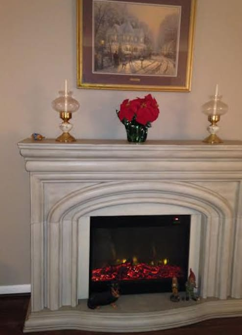 My fireplace in the living room,
