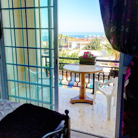 Double bed, amazing view, close to beach - Neo Chorio - Vila