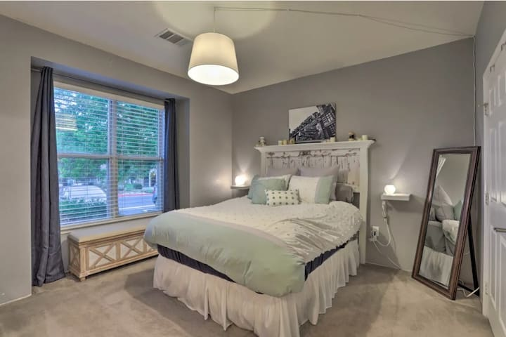 Large and comfortable bedroom with queen bed