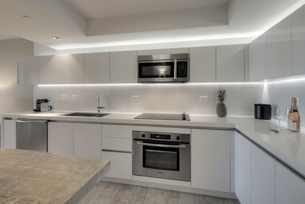 Gourmet kitchen with everything you need to cook a delicious meal